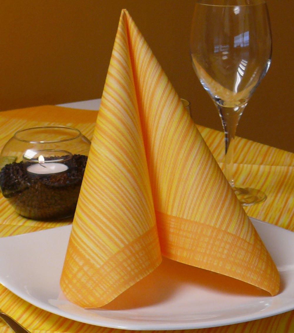 Servítky Ribó Arancio z netkanej textílie